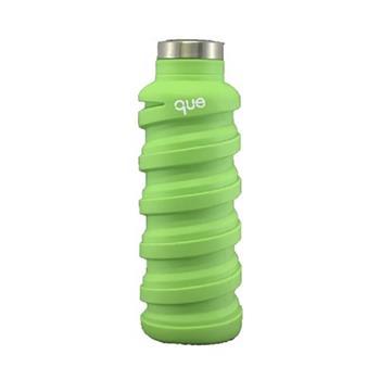 que Bottle 伸縮水瓶(600ml)/螢光綠
