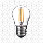順合光電 全電壓 G45 4W E27 LED復古鎢絲燈泡 黃光(2入)