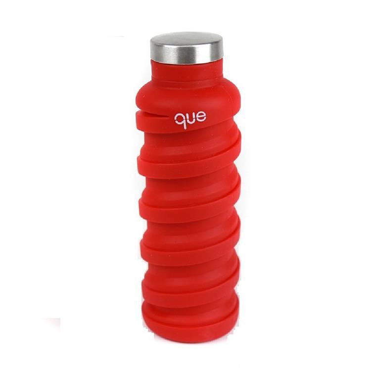 que Bottle 伸縮水瓶(600ml)/魔力紅