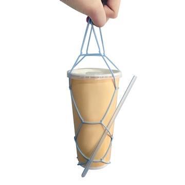 Kalo卡樂創意 環保矽膠飲料提袋 杯套 手搖杯 飲料袋 環保提袋-綠色