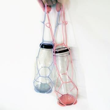Kalo卡樂創意 環保矽膠飲料提袋 杯套 手搖杯 飲料袋 環保提袋-粉紅