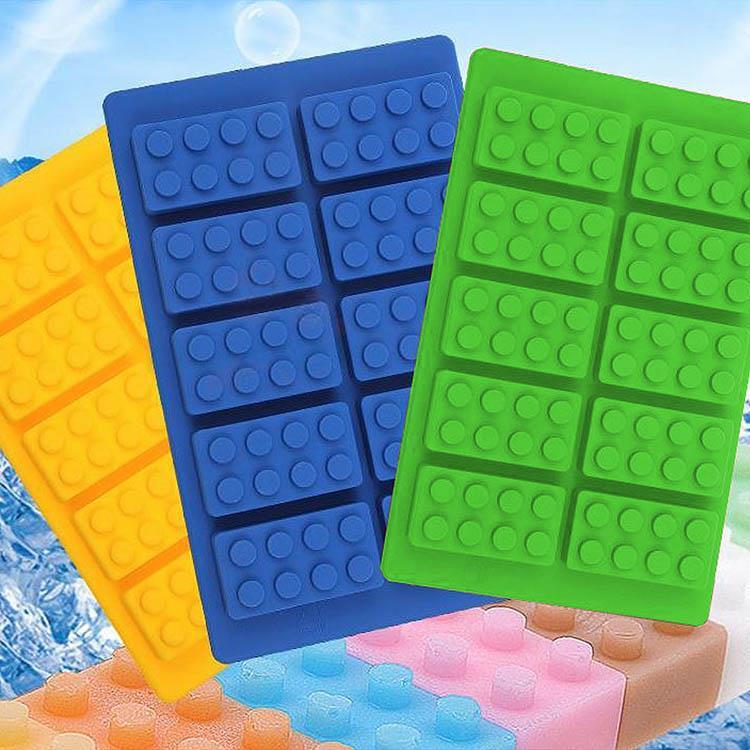 10冰格 創意積木矽膠製冰盒(2入)