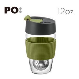 【PO:Selected】丹麥磁吸濾球魔力杯12oz (墨綠)