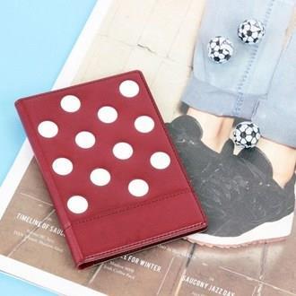 【FENICE】點點造型證件護照套-紅