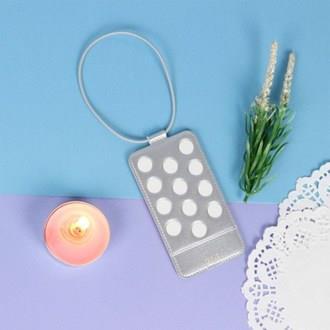 【FENICE】點點造型行李吊牌-銀