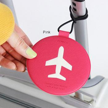 【FENICE】飛機造型行李吊牌(桃紅)
