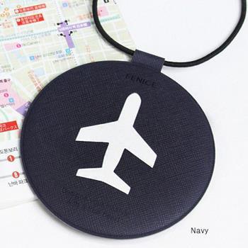 【FENICE】飛機造型行李吊牌(深藍)