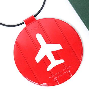 【FENICE】耐衝擊行李吊牌 (紅色)