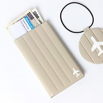 【FENICE】M size 耐衝擊護照套(米色)