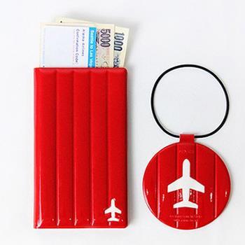 【FENICE】M size 耐衝擊護照套(紅色)