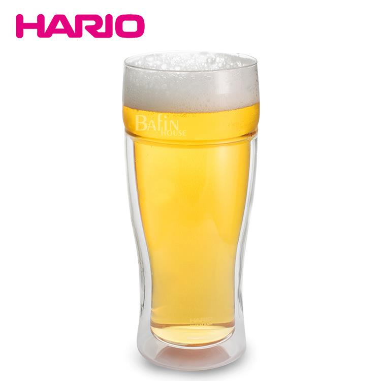 【日本 HARIO】雙層玻璃啤酒杯380ml(TBG-380)