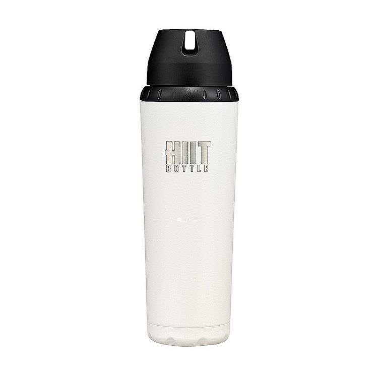 美國 HIIT BOTTLE 極限健身水瓶/全配版/白色/709ml