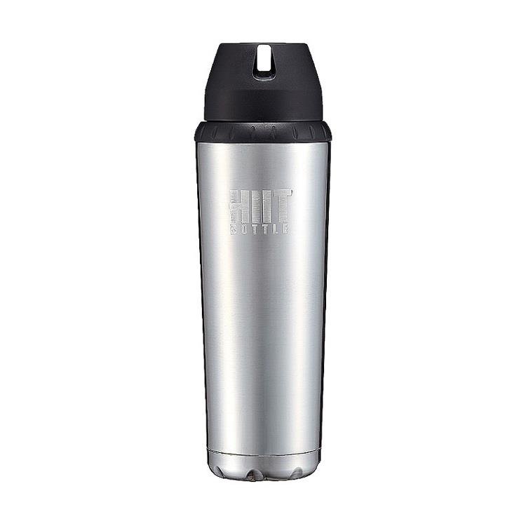 美國 HIIT BOTTLE 極限健身水瓶/全配版/銀色/709ml