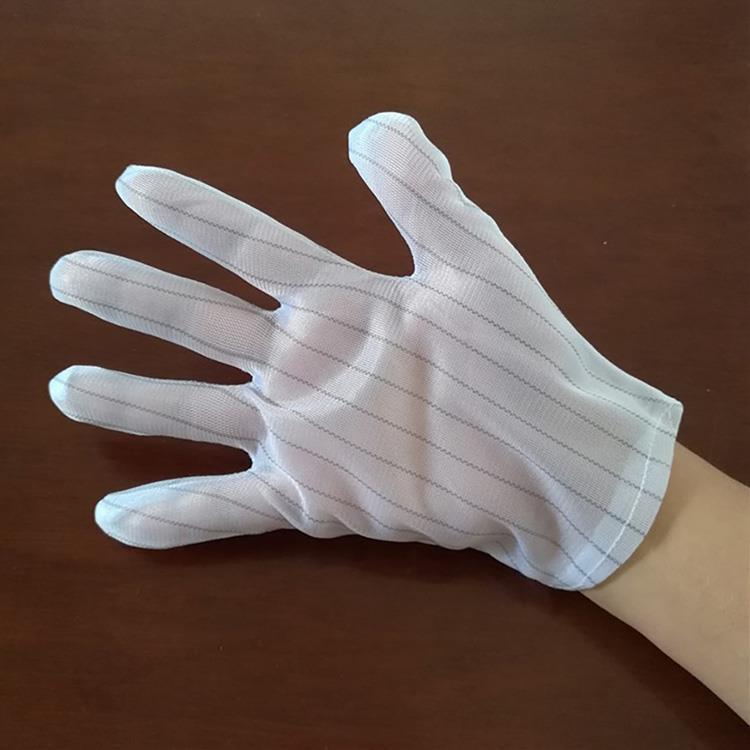 防靜電雙條拼紋手套(6雙入)
