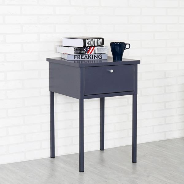 《YoStyle》諾伊鋼製床邊桌(沉穩灰)