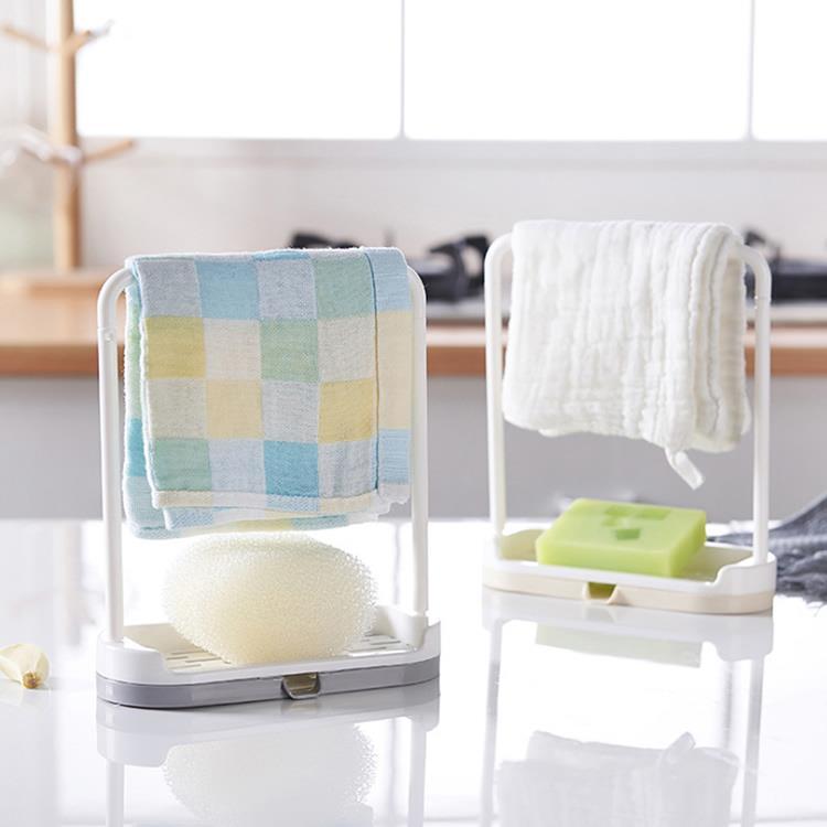【iRoom優倍適】廚衛抹布海綿瀝水置物架 2入組