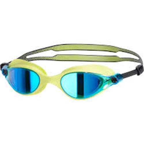 Speedo V-class 日本製造 競技鏡面泳鏡 萊姆黃  SD810964B573
