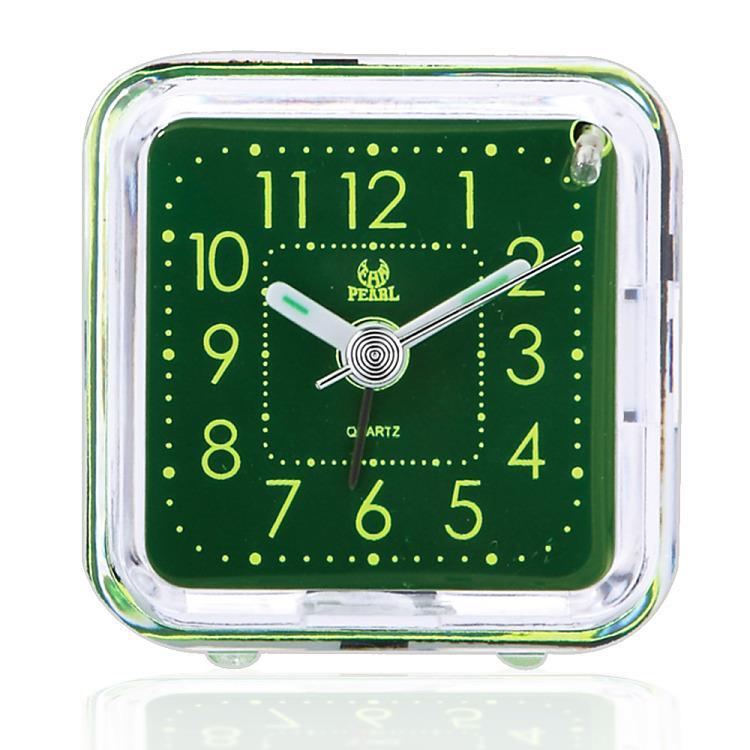 PEARL 綠精靈-迷你夜光超靜音掃描貪睡鬧鐘