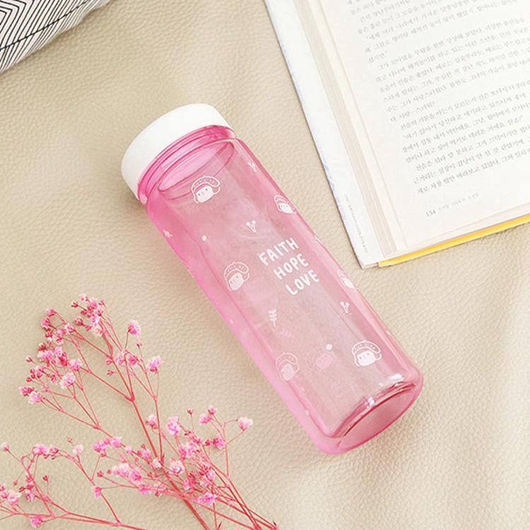 韓國GRACEBELL-哈囉 珍妮 500ml 01.粉紅 Ecozen環保水瓶