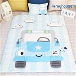 【 Babytiger虎兒寶 】myhouse 韓國防蟎兒童睡袋 - 小汽車
