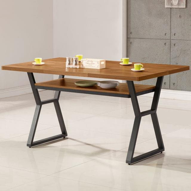 《YoStyle》愛德琳工業風4尺餐桌
