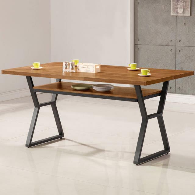 《YoStyle》愛德琳工業風5尺餐桌