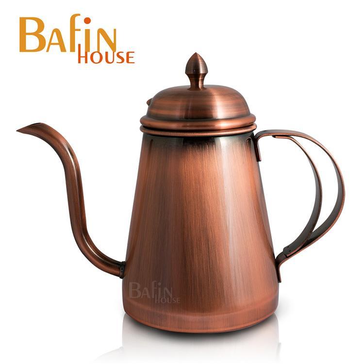 【Bafin House】welead 古銅 職人不鏽鋼手沖壺 600ml