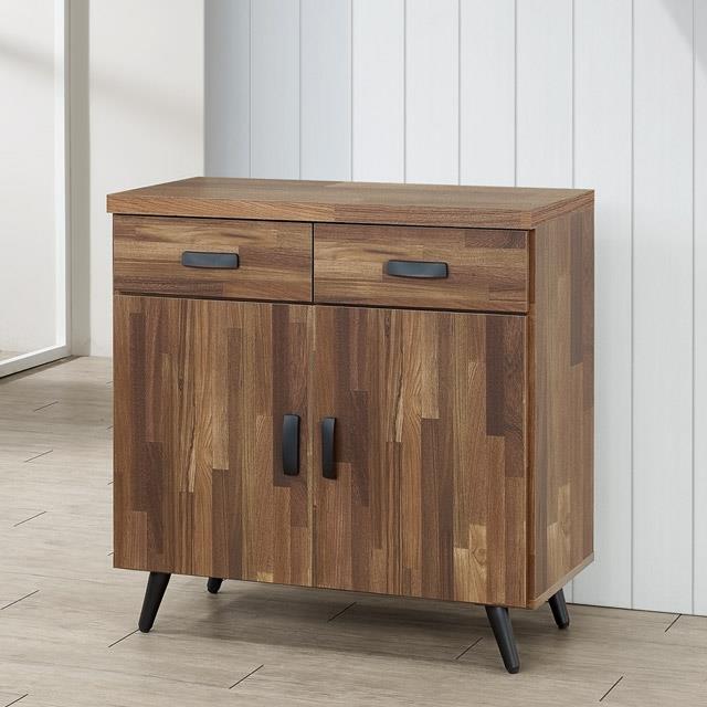 Yostyle 布里安2.7尺碗盤收納櫃(積層木)