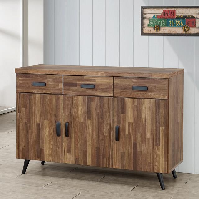 Yostyle 布里安4尺餐櫃(積層木)