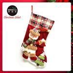 18吋蘇格蘭格紋聖誕襪-雪人款