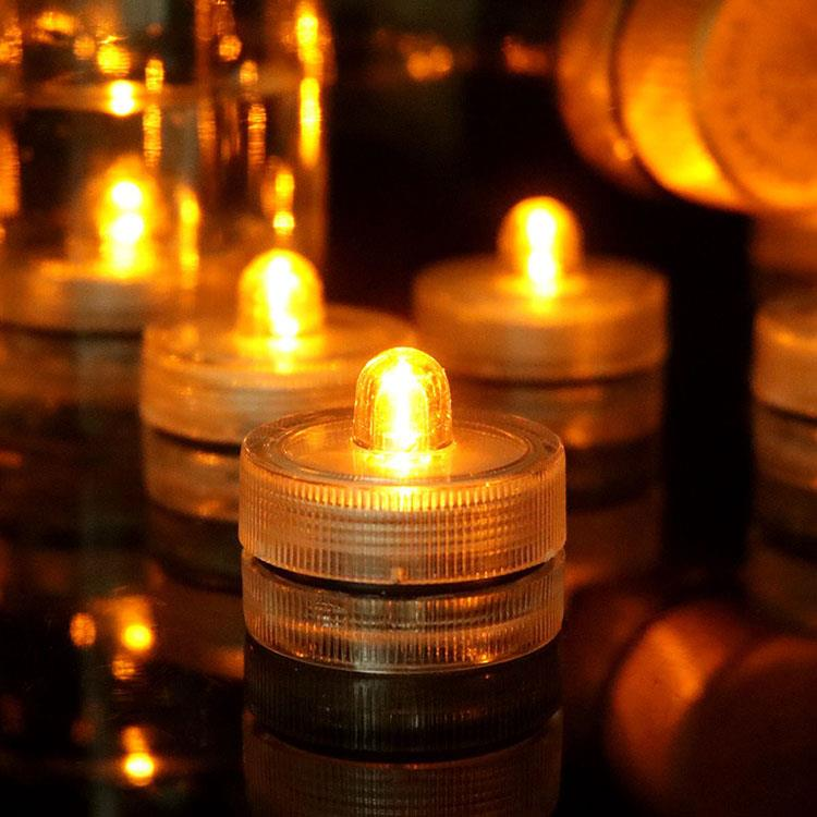 LED防水迷你蠟燭燈/魚缸燈(12入)