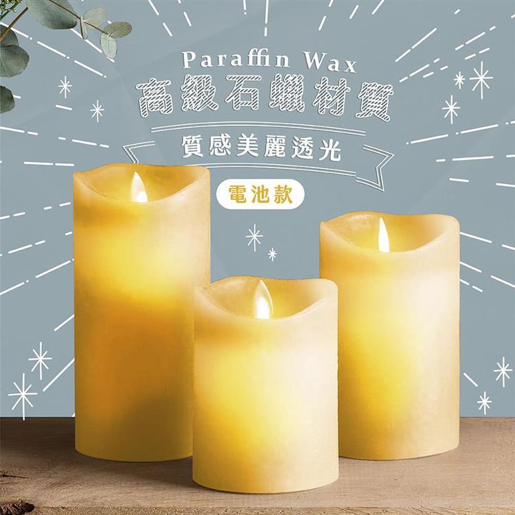 LED復古風情造型蠟燭燈(2入)