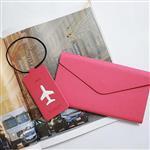 【FENICE】多功能鈔票式護照包 L size(桃紅)