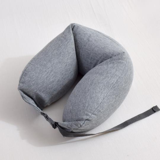 輕時尚U型護頸靠枕/旅行枕/午安枕-灰色