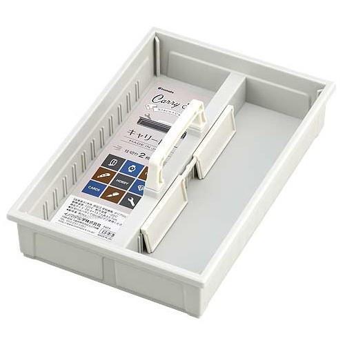 【大國屋】日本製INOMATA CARRY TRAY攜帶收納盤收納盒整理盒-白色