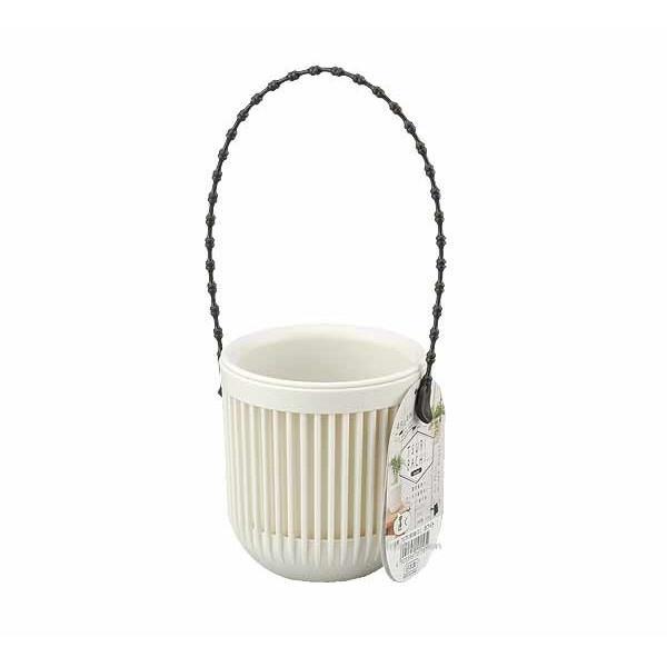 【大國屋】日本製INOMATA TSURI BACHI 3吋吊式花盆-白色