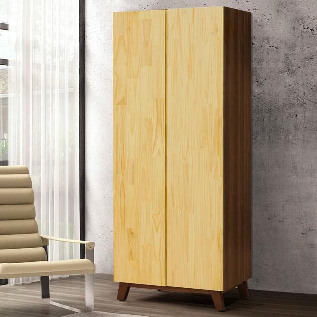 Yostyle 摩卡2.7尺雙吊衣櫃