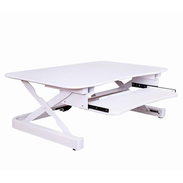 美商艾湃電競 Apexgaming 桌上型電動升降桌 EDR-3612-白色