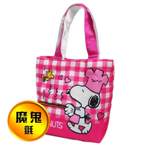 史努比餐袋-紫愛心/粉廚師-2入組