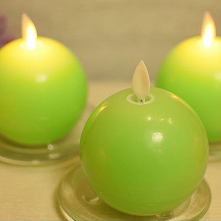 LED蘋果造型蠟燭燈(1入)-青蘋果(綠色)