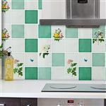 防油煙廚房磁磚壁貼(1張)-藍色烘焙師