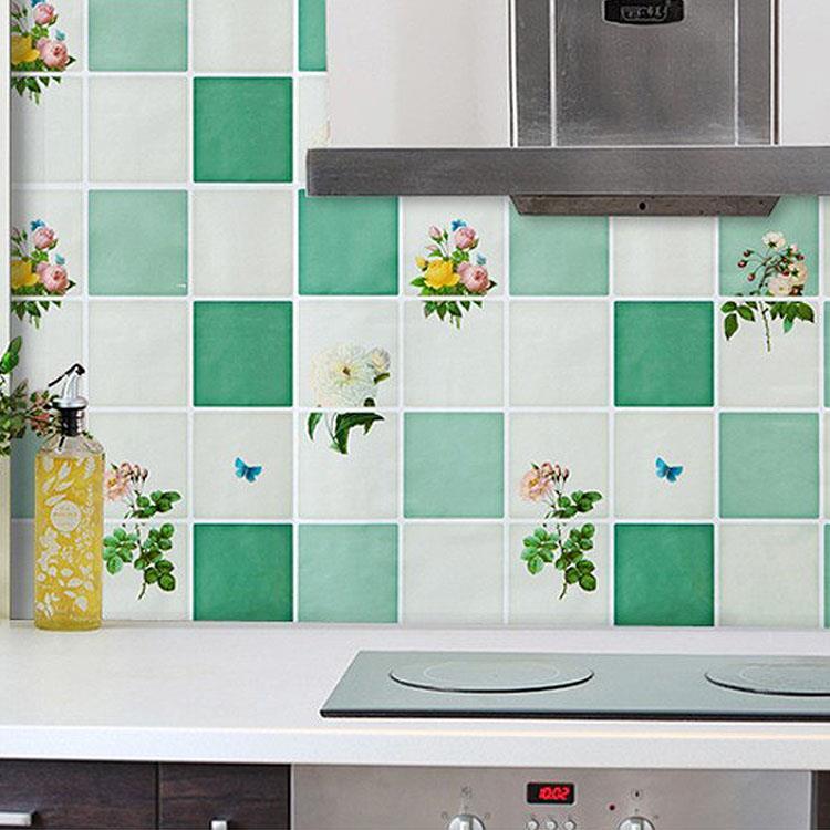 防油煙廚房磁磚壁貼(1張)-藤綠花園