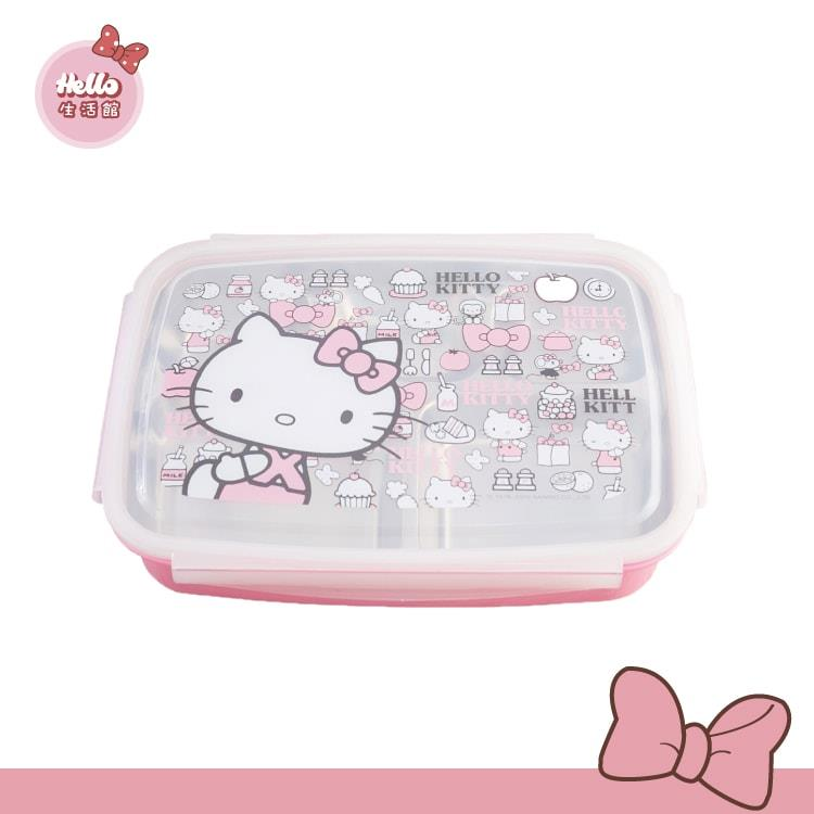 [Hello 生活館] Hello Kitty 不鏽鋼隔熱餐盒1000ml/五格(附提袋)