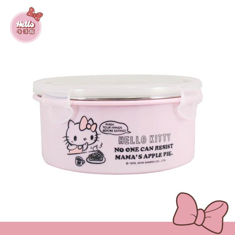 [Hello 生活館] Hello Kitty 不鏽鋼隔熱環保碗700ml (台灣製)