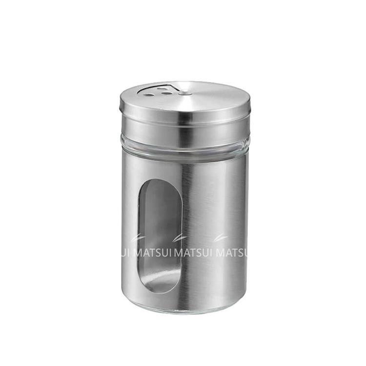 日本進口 不鏽鋼包覆玻璃調味罐80ML-IW-178794