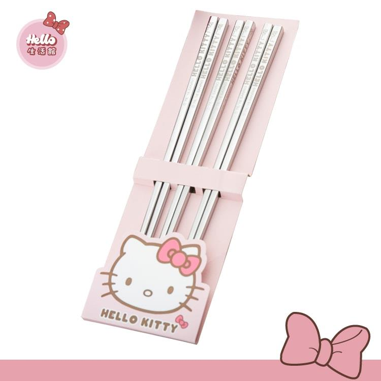 [Hello 生活館] Hello Kitty 不鏽鋼三入筷組