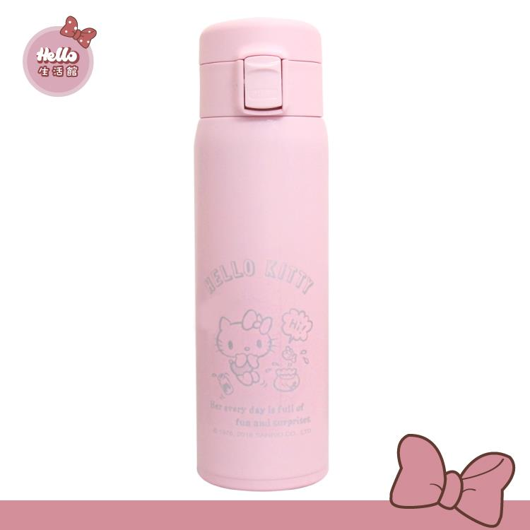 [Hello 生活館] Hello Kitty 輕量真空不鏽鋼保溫保冷瓶480ml-經典粉
