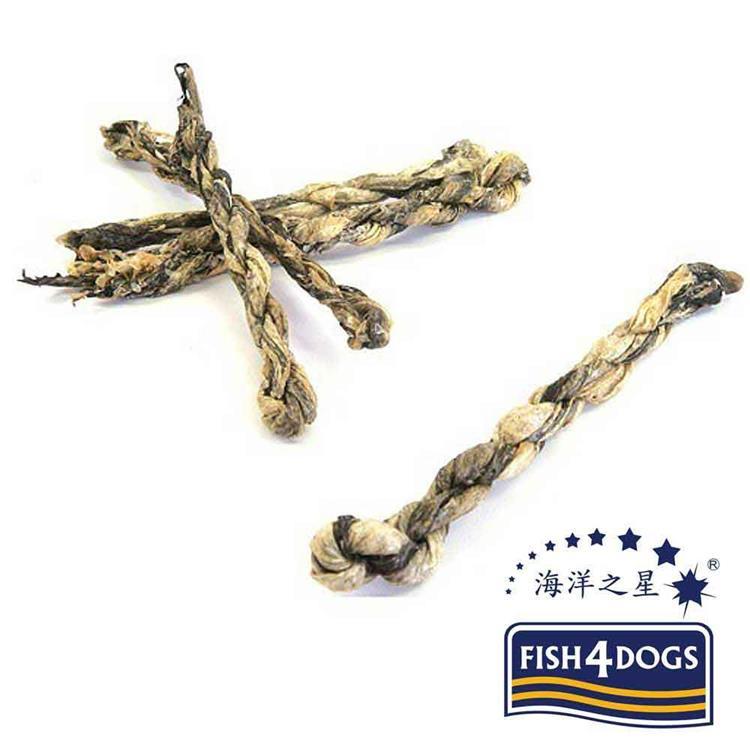 海洋之星FISH4DOGS 營養潔齒點心 魚皮麻花捲(100g*2入)