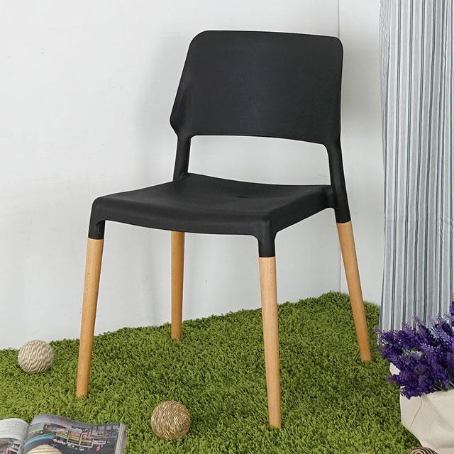 Yostyle 洛娜北歐風餐椅(神秘黑)