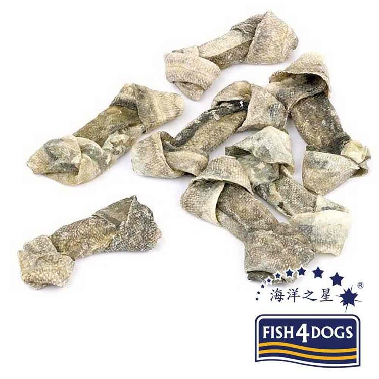 海洋之星FISH4DOGS 營養潔齒點心 魚皮結骨(100g*2入)